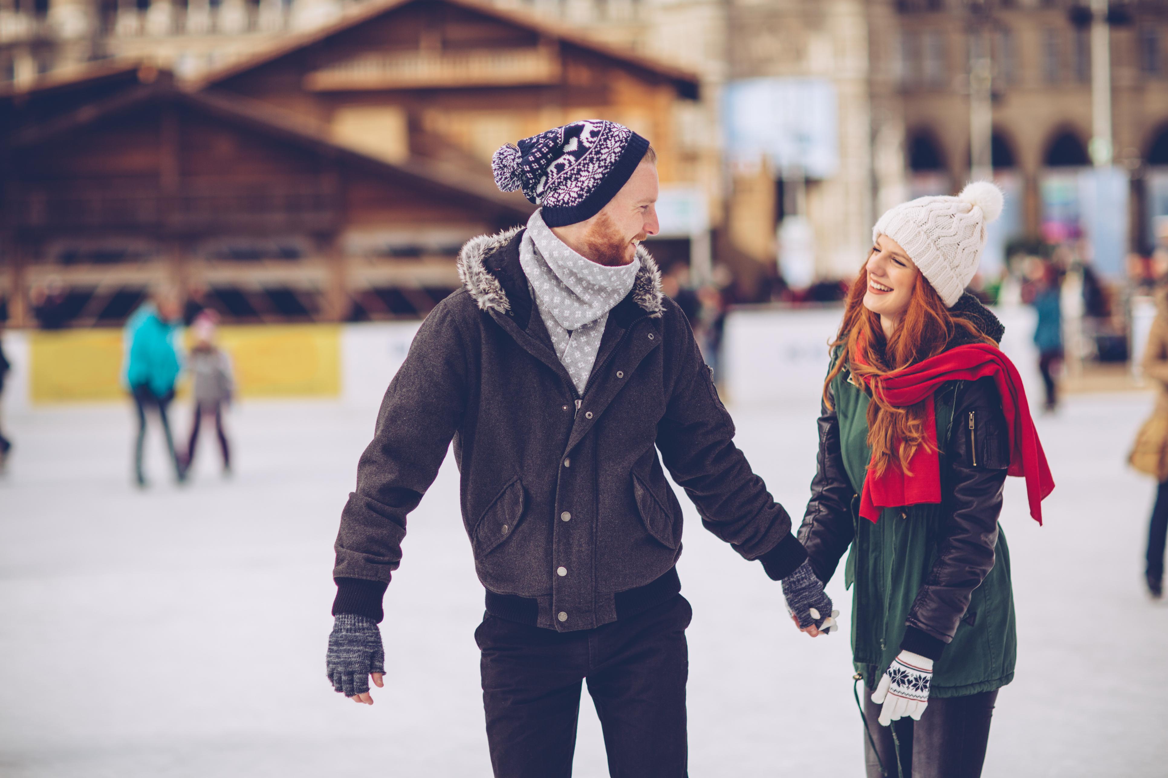 Couple Ice Skate