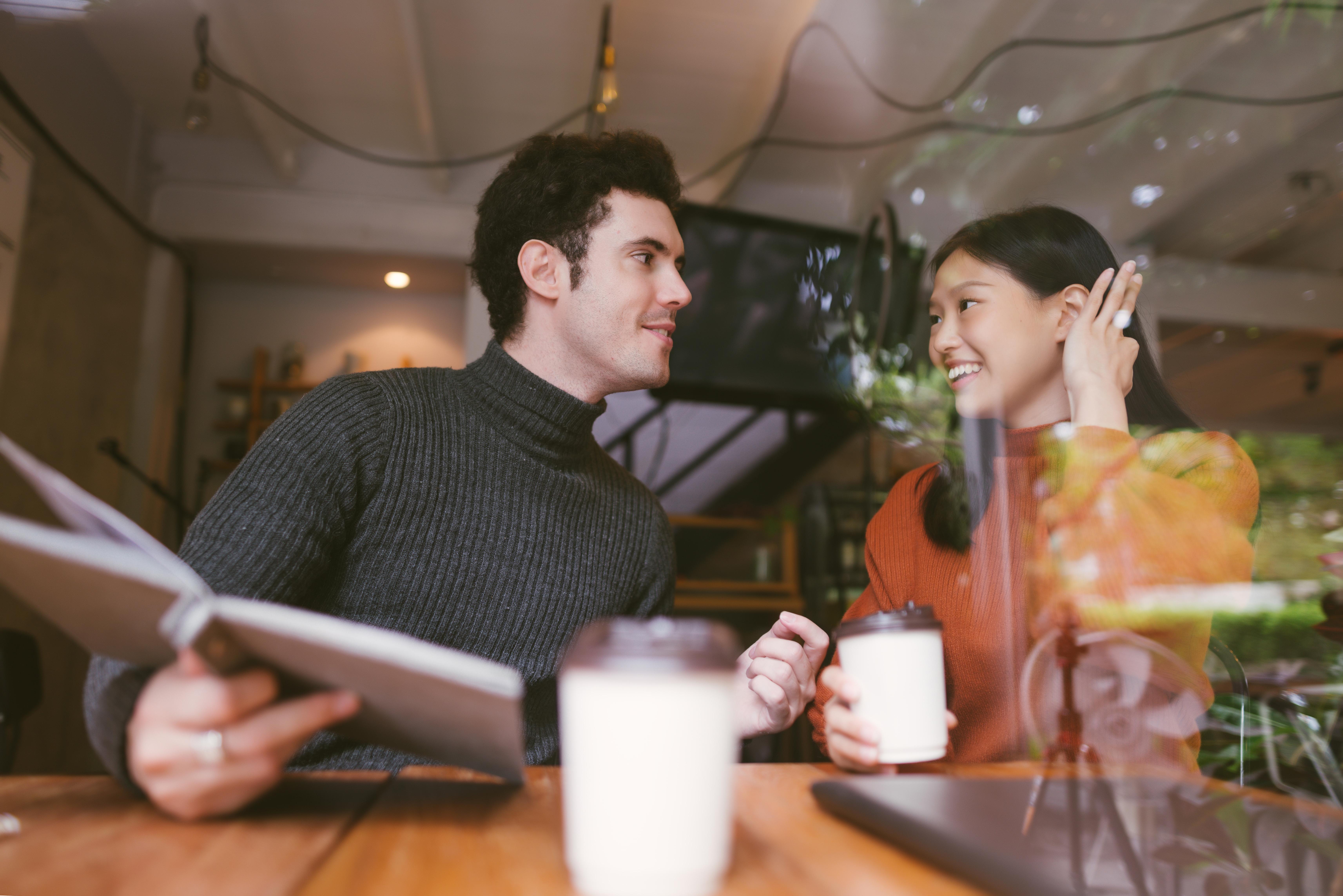 Caucasian guy dating an Asian girl