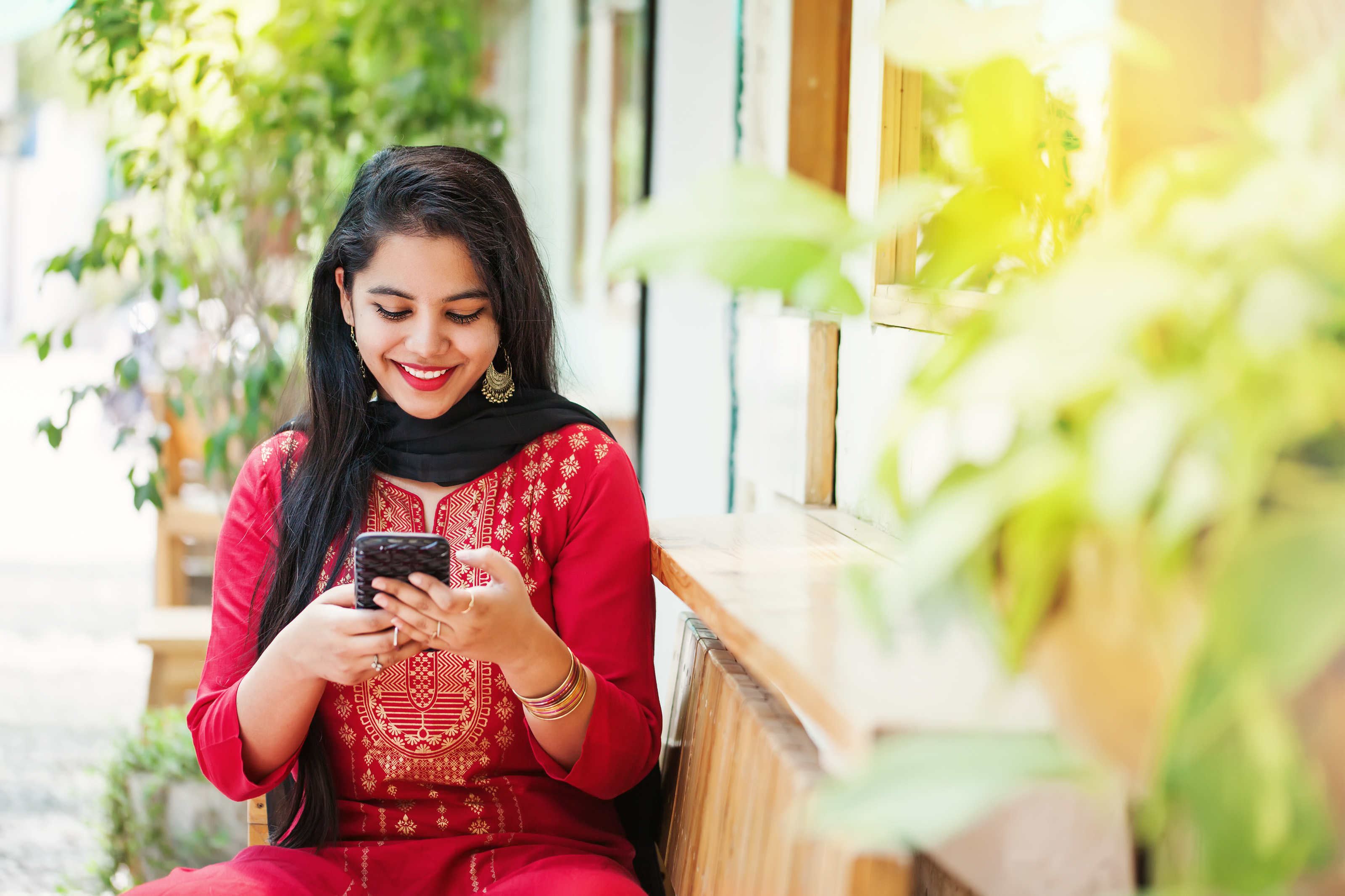 Indian Dating Girl on Phone