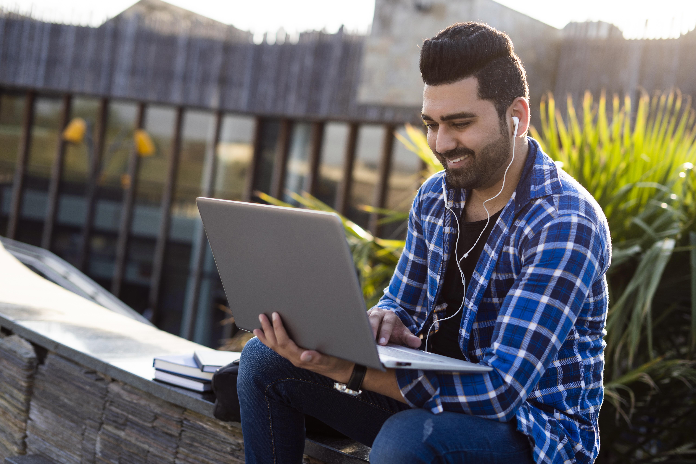 Indian Dating Man Browsing