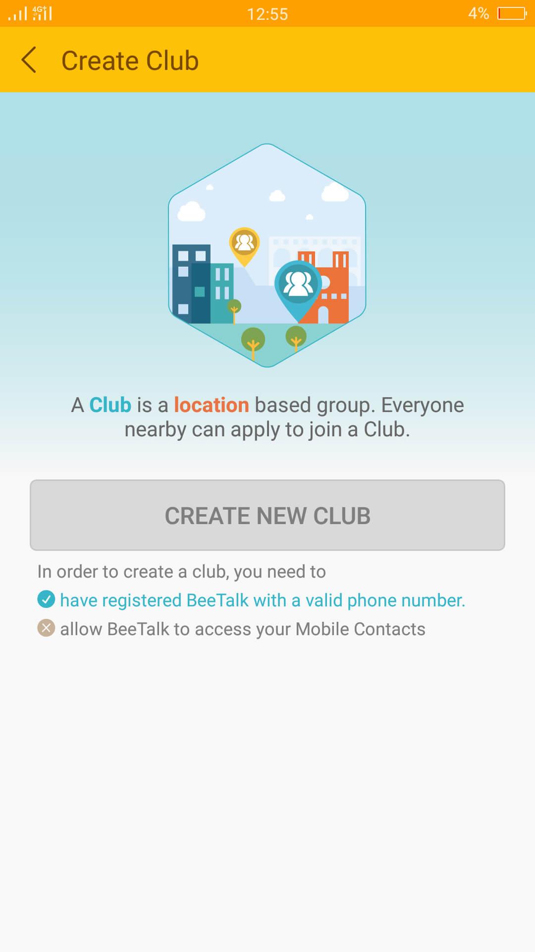 BeeTalk Club Feature