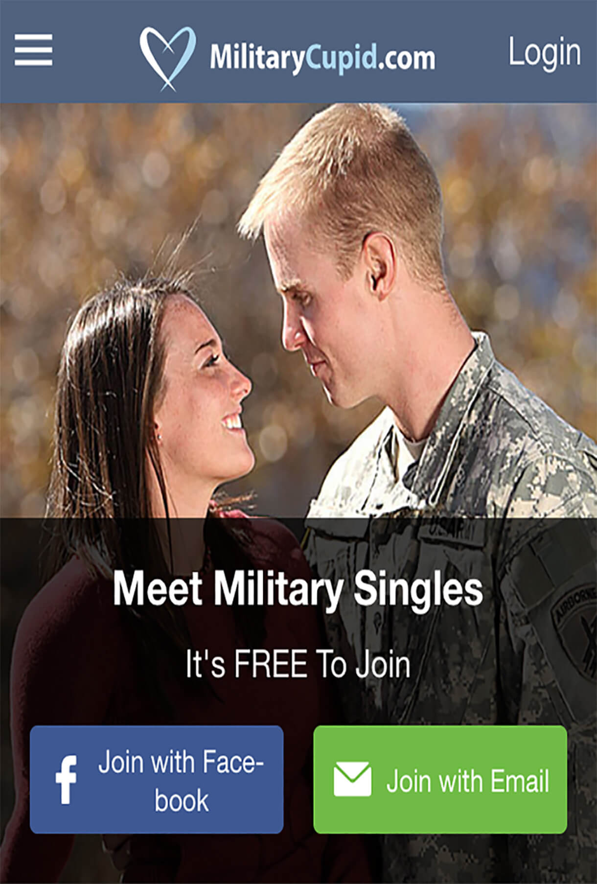 Military Cupid Mobile Application
