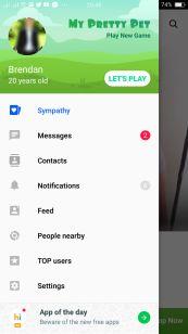 Hitwe Mobile Menu Contacting