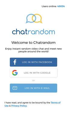 Chatrandom  App Login
