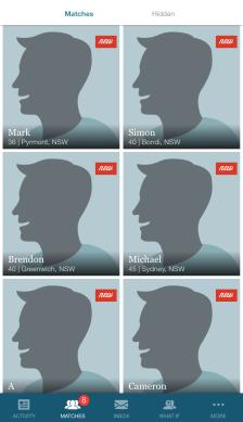 eHarmony App Matches Example