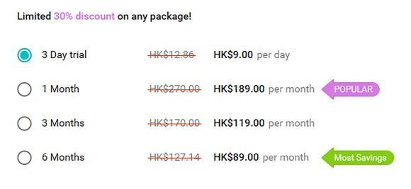 BuddyGays HK Price