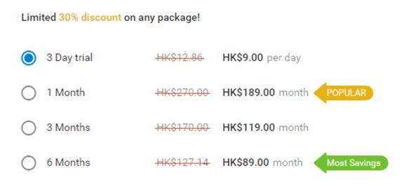 MeetMilfy Price HK