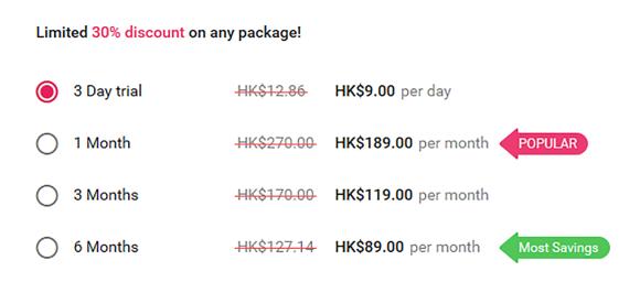 UniformDating HK Price