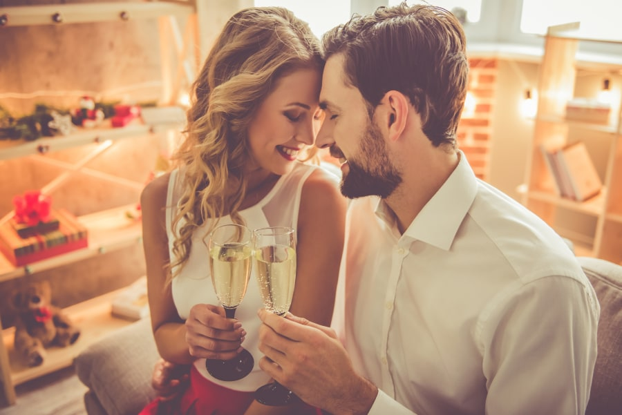 NYE Couple at Home