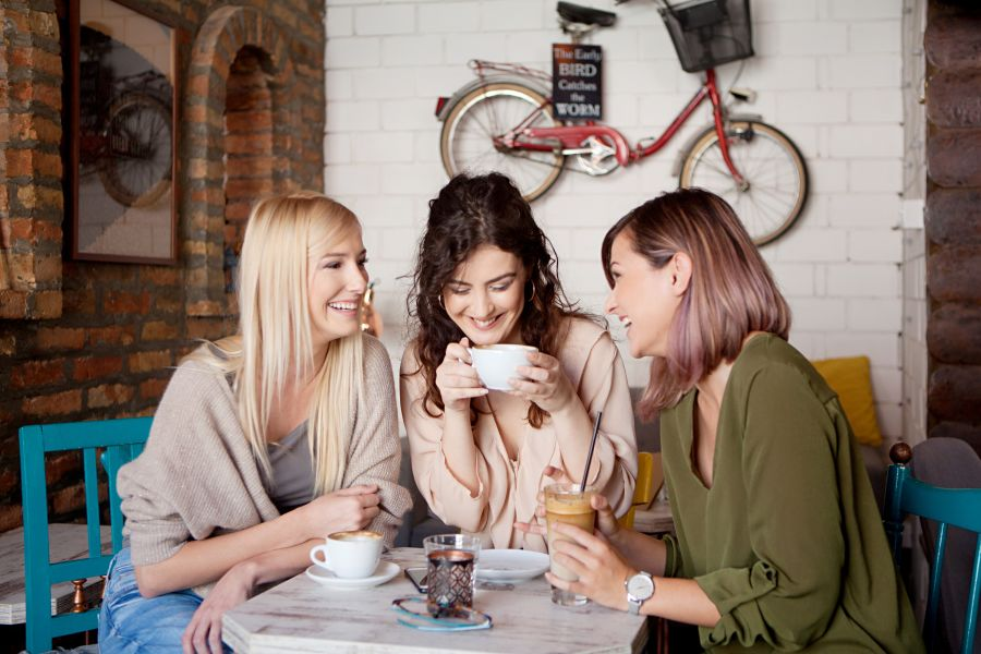 Women going out with friends