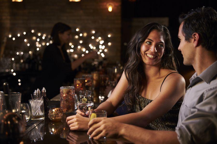 Indian Dating Couple Flirting