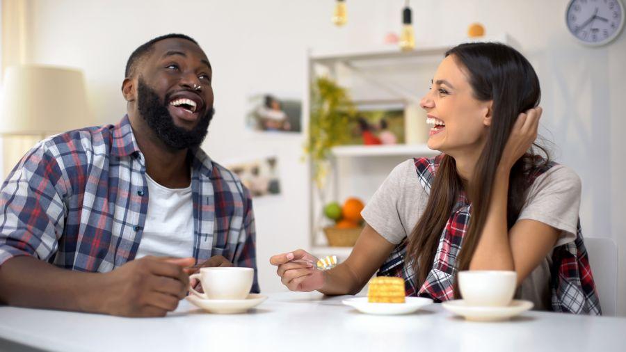 Interracial Dating Happy Couple
