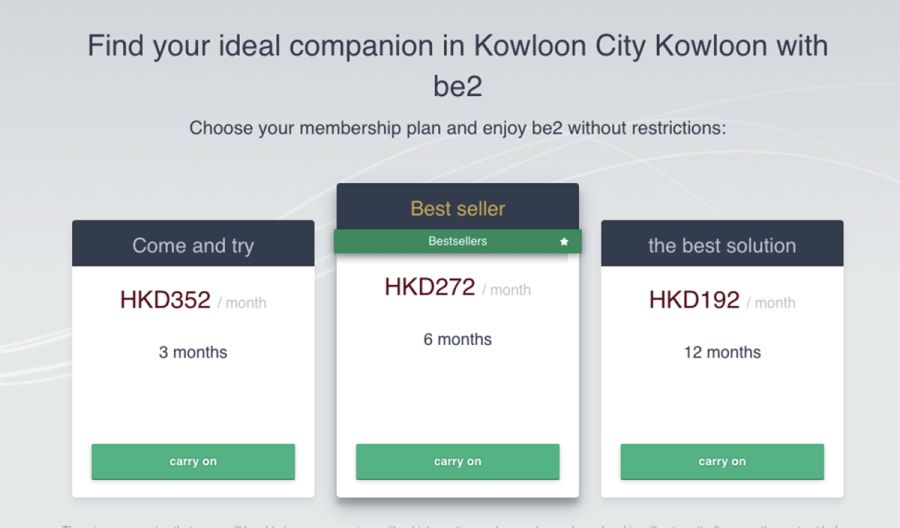 be2 Cost HK