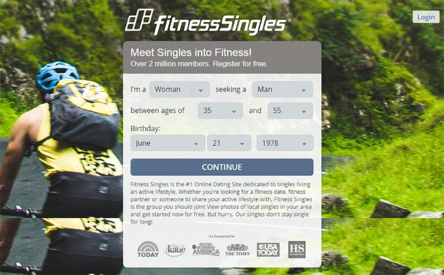 Fitness Singles Registration