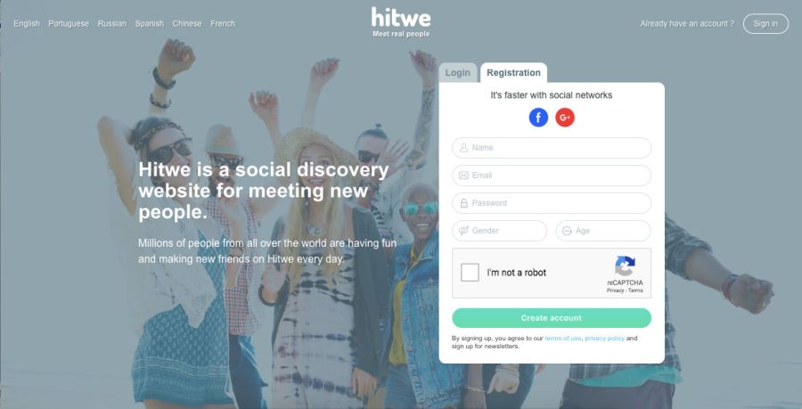 Hitwe Registration