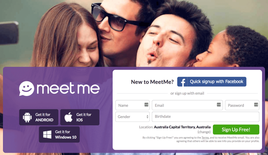 MeetMe Sign Up